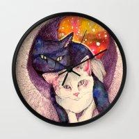 zelda Wall Clocks featuring nick & zelda by Beth Jorgensen