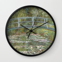 Water Lily Pond (Japanese Bridge) Wall Clock