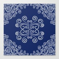 blueprint Canvas Prints featuring Blueprint by Hind686