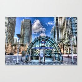 Canary Wharf Station Canvas Print