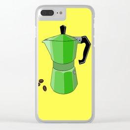 Green Rainbow Espresso Clear iPhone Case