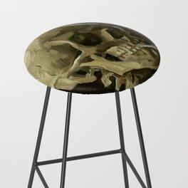 Vincent van Gogh - Skull of a Skeleton with Burning Cigarette Bar Stool