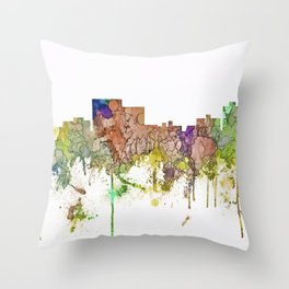 Chatanooga, Tennessee Skyline SG - Faded Glory Throw Pillow