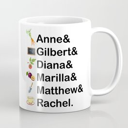 Anne of Green Gables Names Coffee Mug