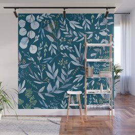 Eucalyptus Blue Wall Mural