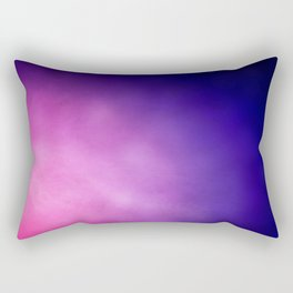 Pink and Purple Abstract Rectangular Pillow