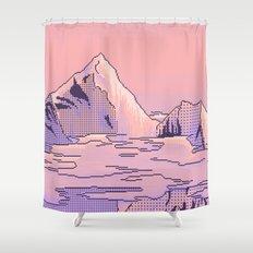 Peach Sunset Shower Curtain
