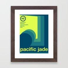 pacific jade single hop Framed Art Print