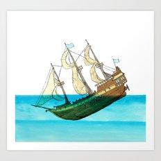 Sinking Ship Art Print