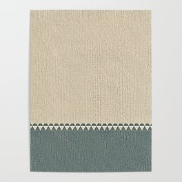 Texture Taupe and Grey Green Pattern Poster