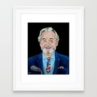 bill murray Framed Art Prints featuring BILL MURRAY by Jordan Soliz