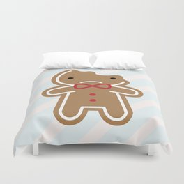 Sad Bitten Cookie Cute Gingerbread Man Duvet Cover