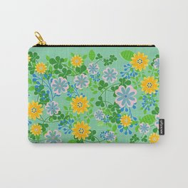 FLORAL #1 - GREEN Carry-All Pouch
