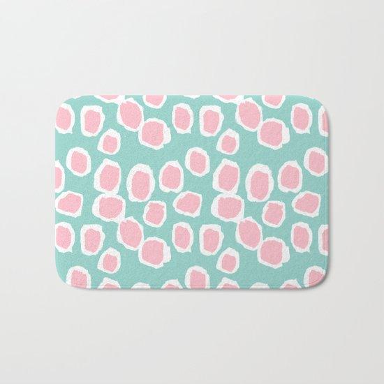 Hayden - abstract trendy gender neutral colorful bright happy dorm college decor pattern print art Bath Mat