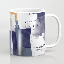 Abstract - Bush Telegraph Drums in Dark Blue and Gold Coffee Mug