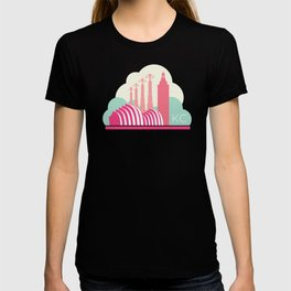Kansas City in the Clouds - Pink T-shirt