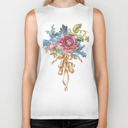 Collection of Baroque. Flower Arrangement 2 Biker Tank