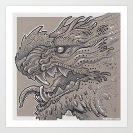 Spikey Monster Art Print