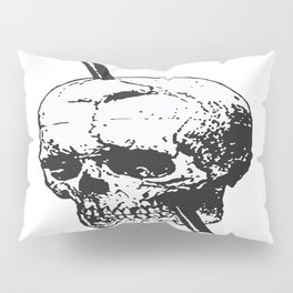 Frontal Lobotomy Skull Of Phineas Gage Vector Isolated Pillow Sham
