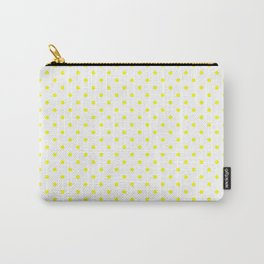Dots (Yellow/White) Carry-All Pouch