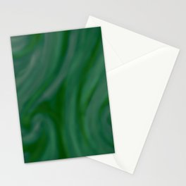 Green SWIRL Stationery Cards