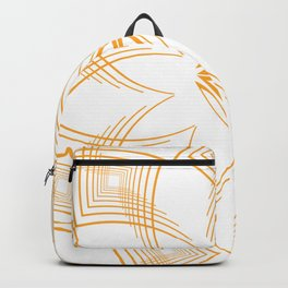 Art Deco Glam Gold Colored Modern Abstract Print Backpack