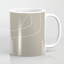 Minimal Line Art Woman Figure III Coffee Mug