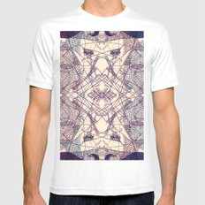 Kaleidoscopic Trip White MEDIUM Mens Fitted Tee