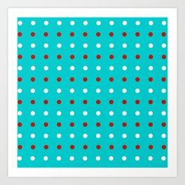 Abstract color line print Art Print