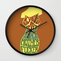 body Wall Clocks featuring Body by Triple Six Illustration
