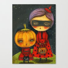 Trick Or Treating Canvas Print