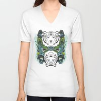 tigers V-neck T-shirts featuring Tigers #3 by Ornaart