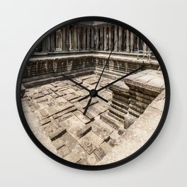 Angkor Wat Pool, Cambodia Wall Clock