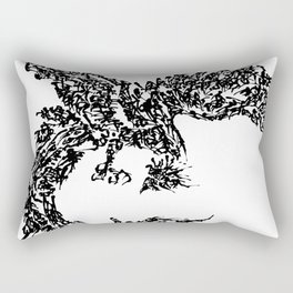 Kanji Calligraphy Art :phoenix Rectangular Pillow