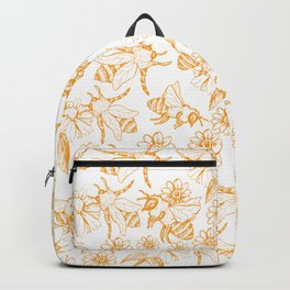 Aesthetic and simple bees pattern Backpack