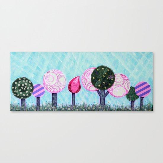 Pink grove Canvas Print