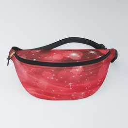 Whimsical Glowing Christmas Sparkles Festive Bokeh Holiday Art Fanny Pack