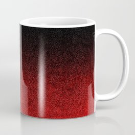 Red & Black Glitter Gradient Coffee Mug
