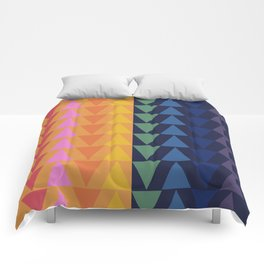 Day and Night Rainbow Triangles Comforters