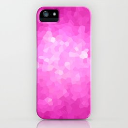 Pink and White Modern Abstract Geometric Shape iPhone Case