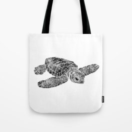 Sea Turtle Watercolor Art Tote Bag