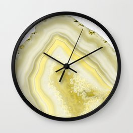 Lemon Twist Agate Dream #1 #gem #decor #art #society6 Wall Clock