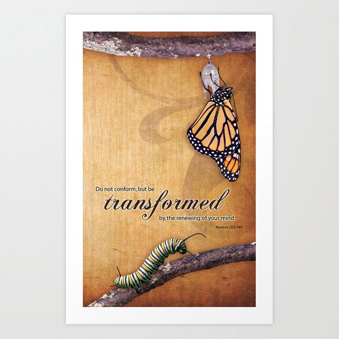 Transformed Scripture Print Romans 12 2 Art Print By