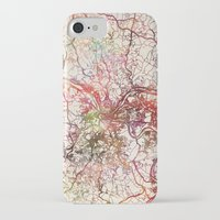 pittsburgh iPhone & iPod Cases featuring Pittsburgh by MapMapMaps.Watercolors