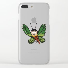 Butterfly Randy Clear iPhone Case