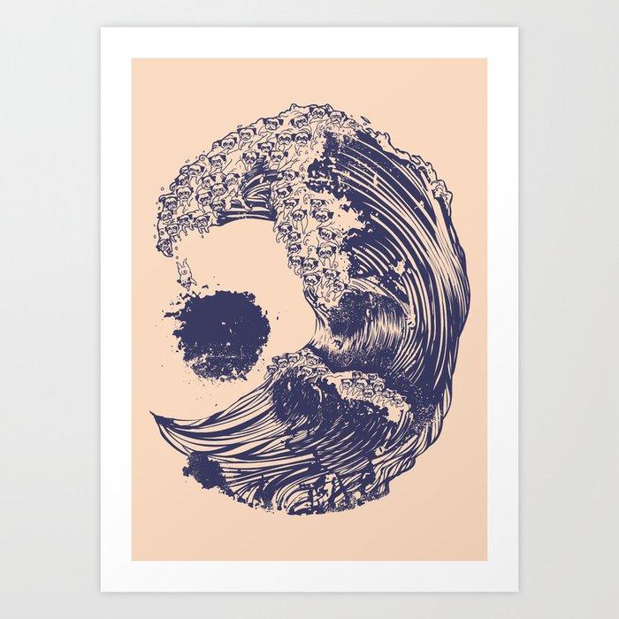 Pugs X Swell Art Print