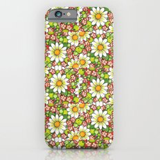 Christmas Daisy and Berries Pattern iPhone 6s Slim Case
