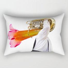 Musician and Flower Horn Rectangular Pillow