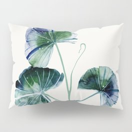 Water lily leaves Pillow Sham