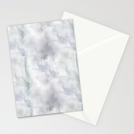 Watercolor lilac violet green abstract brushstrokes Stationery Cards